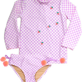 Shade Critters Gingham Rash Guard Set