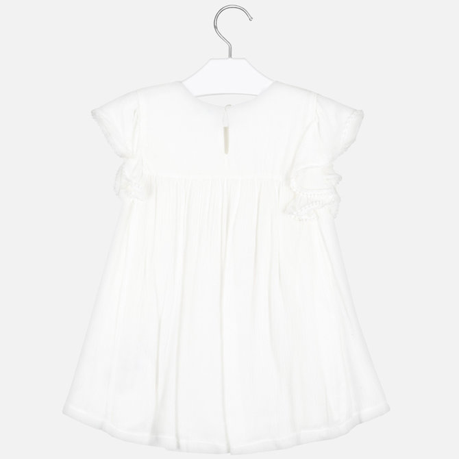 Mayoral Off White Ruffle Blouse