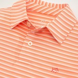 Southern Tide Papaya Punch Heather Driver Stripe Polo