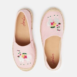 Joules Shelbury Pink Embroidered Espadrille