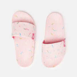 Joules Poolside White Mermaid Stripe Slider
