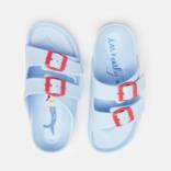 Joules Light Blue Printed Footbed Slider