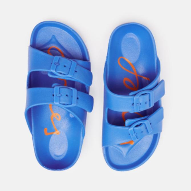 Joules Blue Printed Footbed Slider
