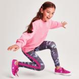 Iscream Blue Camo with Pink Stripe Leggings