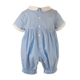 Rachel Riley Striped Smocked Babysuit- 2 Colors Available