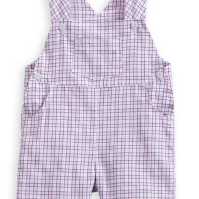 Bella Bliss Bella Bliss Boy's Short Overall Preppy Check