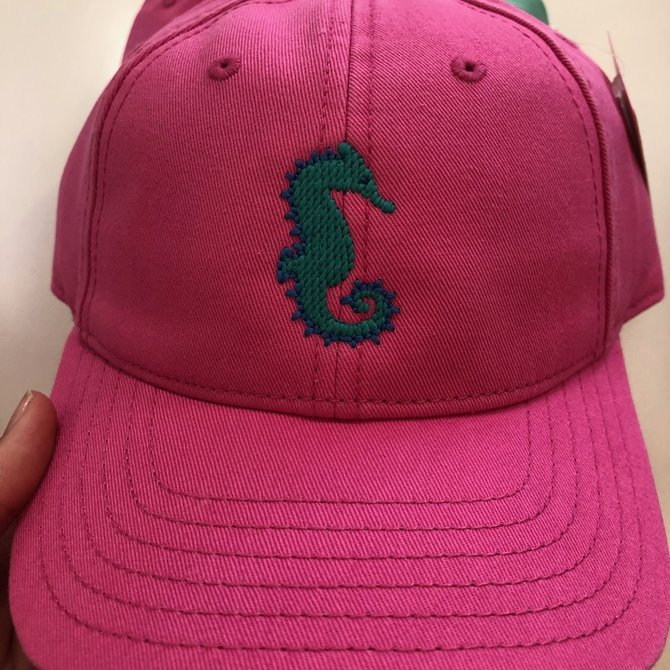 Harding Lane Youth Seahorse on Bright Pink Hat