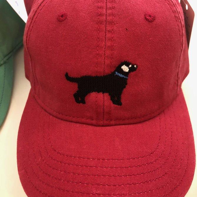 Harding Lane Youth Black Lab on Red Hat