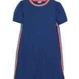 Splendid Striped Trim Jersey Dress True Navy