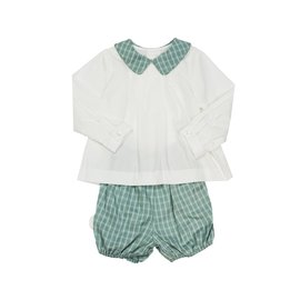Sophie and Lucas Ashford Plaid Set Green