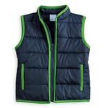 Bella Bliss Puffer Vest Green/Navy
