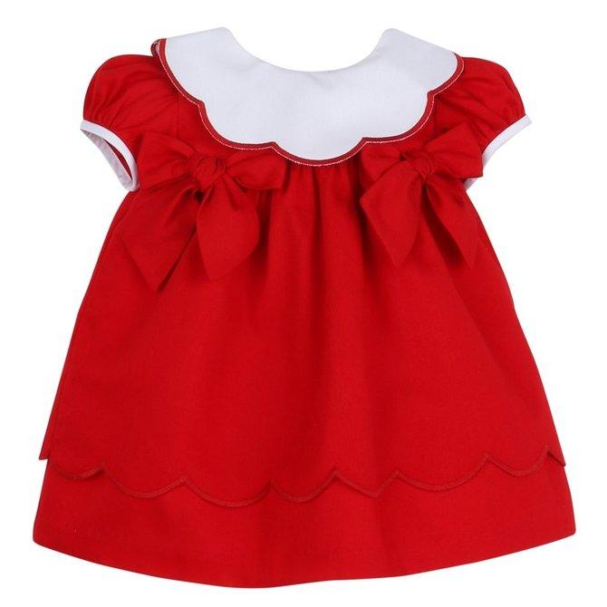 Sophie & Lucas Corduroy Scallop Dress