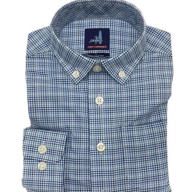 Johnnie-O Gallagher Gulf Blue Performance Button Down
