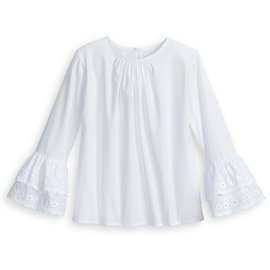 Bella Bliss Eyelet Ruffle Sleeve Blouse