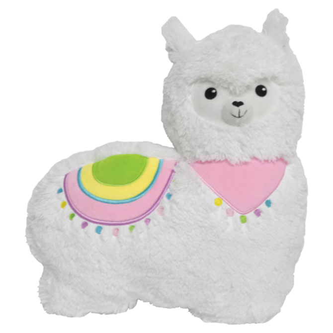 Iscream Llama Furry Embroidered Pillow
