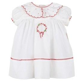 Sophie & Lucas Merrymaker Wreath Dress White