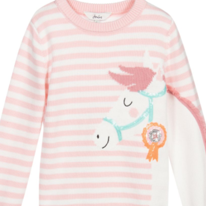 Joules Pink Horse Sweater