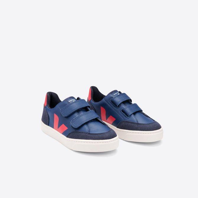 Veja Kid Sneaker Leather Cobalt Pekin