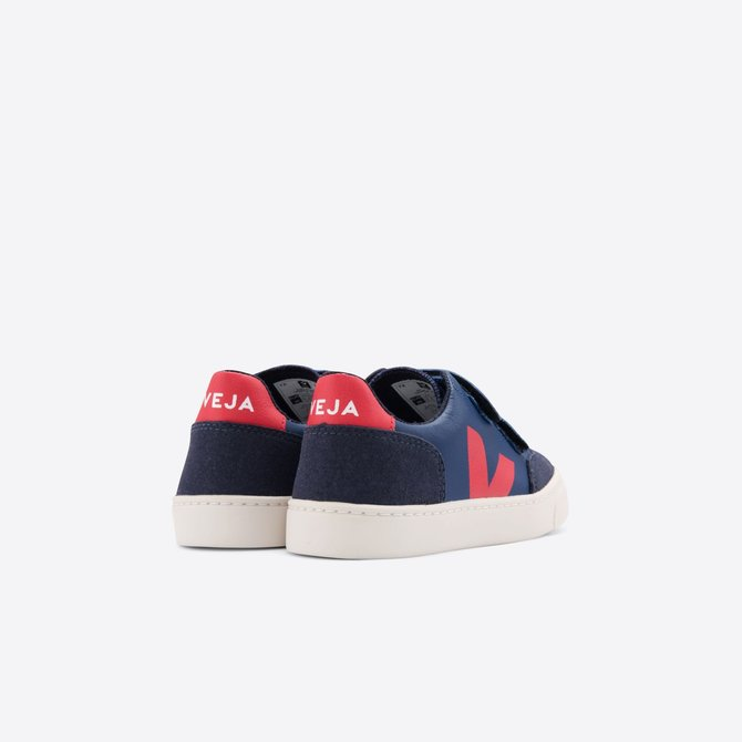 Veja Junior Sneaker Leather Cobalt Pekin