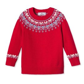 CPC Childrenswear Katrina Heart Fair Isle Sweater