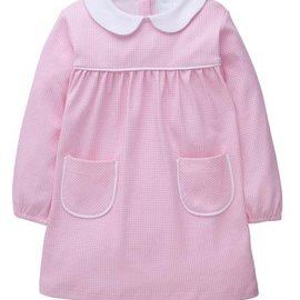 Little English Evelyn Dress - Light Pink Gingham