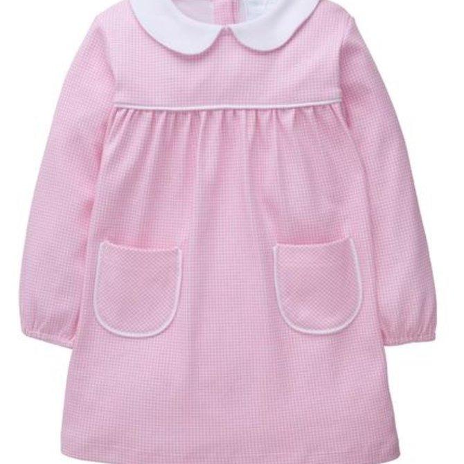 Little English Evelyn Dress - Light Pink Gingham