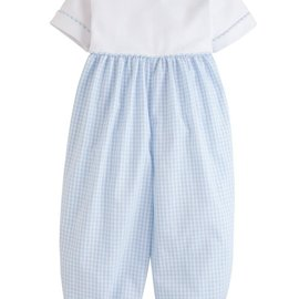 Little English Peter Pan Romper- Light Blue
