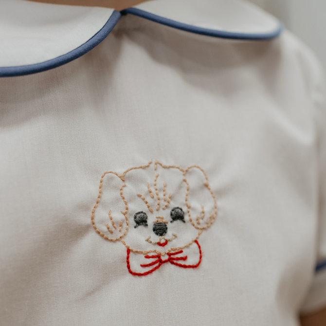 Remember Nguyen Blue Puppy Short Set
