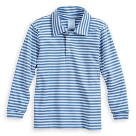 Bella Bliss Fall Striped Pima Polo