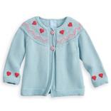 Bella Bliss Nordic Crochet Heart Cardigan