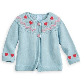 Bella Bliss Nordic Crochet Heart Cardigan