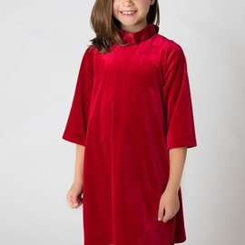 Sophie & Lucas Gabby Velvet Blair Dress Cranberry