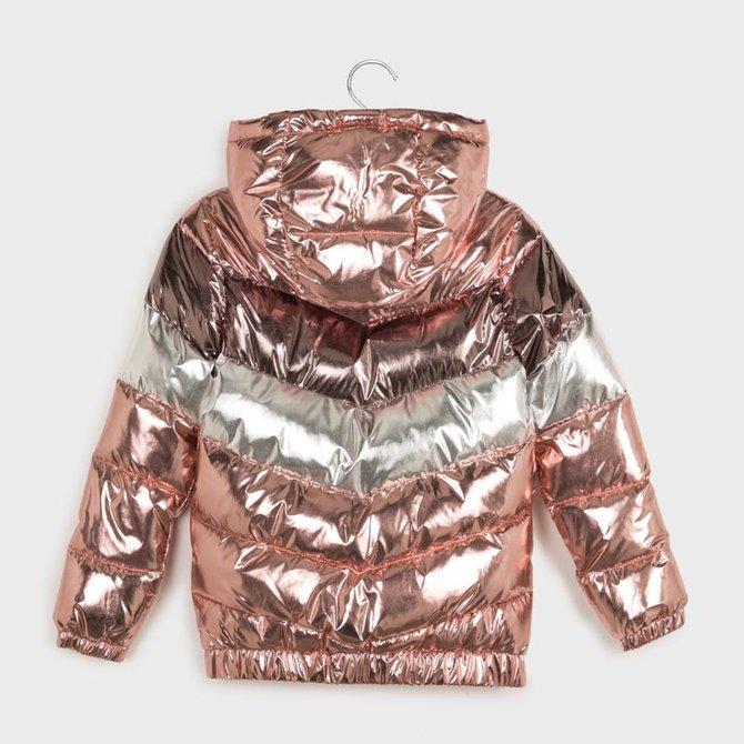 Mayoral Metallic Puff Coat