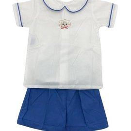 Remember Nguyen Blue Puppy Short Set