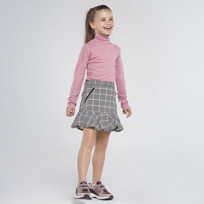 Mayoral Houndstooth Check Skirt