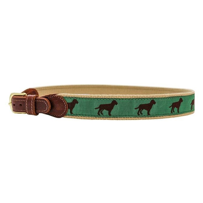 J. Bailey Ribbon Belt Chocolate Dog