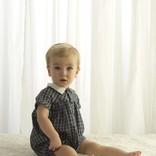 Rachel Riley Tartan Babysuit Green/Navy