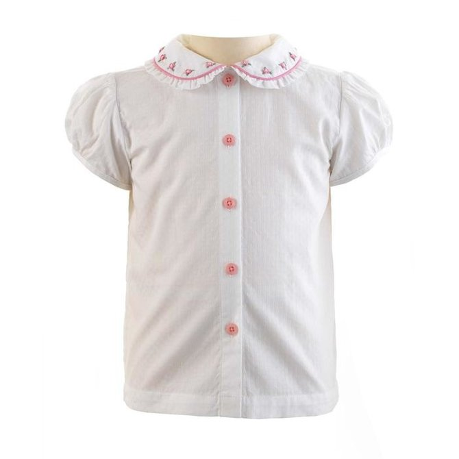 Rachel Riley Rose Embroidered Blouse
