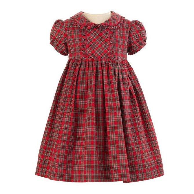 Rachel Riley Tartan Frill Dress Red