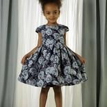 Rachel Riley Blue Rose Damask Dress