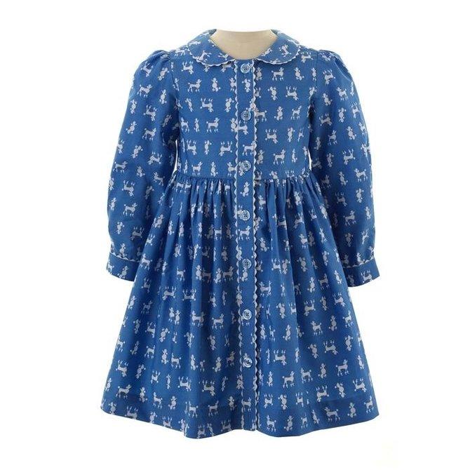 Rachel Riley Poodle Button Front Dress