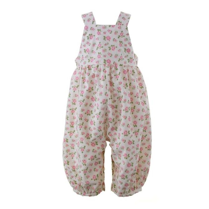 Rachel Riley Rose Babycord Dungarees Pink/Ivory