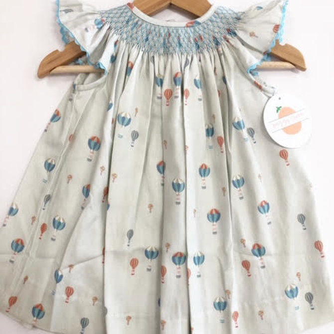 Peggy Green Smocked Millie Hot Air Balloon Dress