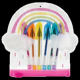 Iscream Rainbow Mini Color Gel 6 Pen Set