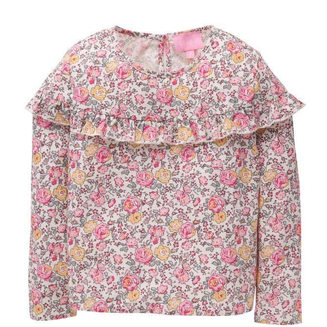 Bisby Emily Top- Pink Rose Garden