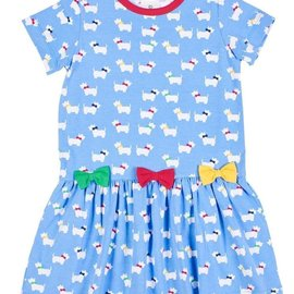 Florence Eiseman Scottie Print Knit Dress with Bows