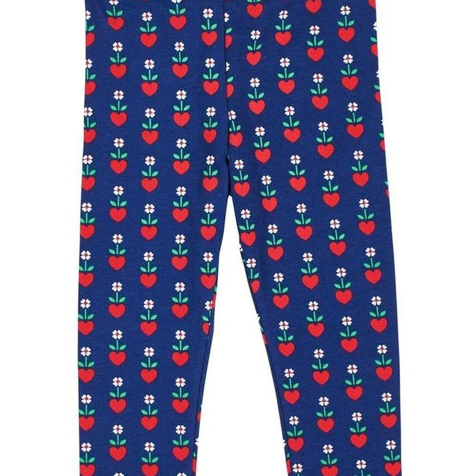 Florence Eiseman Navy/Red Heart Print Legging