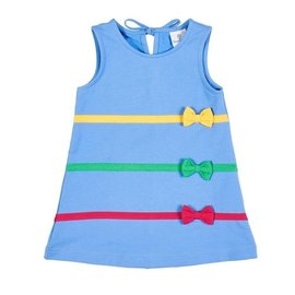 Florence Eiseman Blue French Terry Jumper with Bows