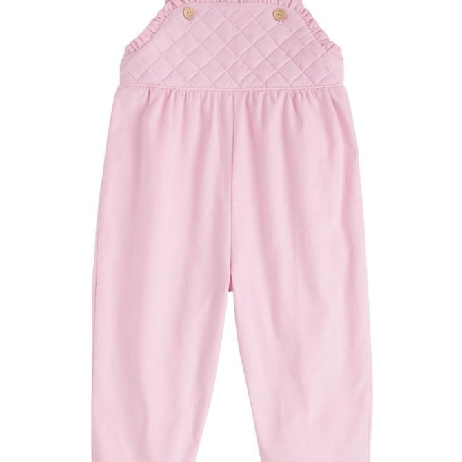 Little English Girls Ruffled Overall Light Pink
