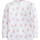 Little English Boys Cow Printed Turtleneck